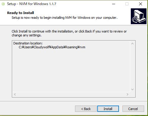 NVM Windows インストール