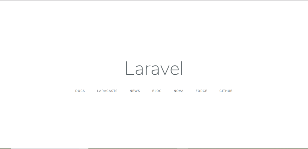 Laravel Welcomeページ
